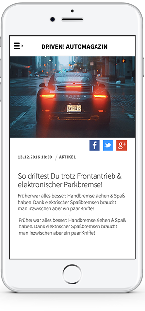 Driven! Autowelt Artikel iPhone
